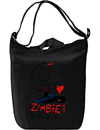 Zombies need live too Bolsa de mano D'a Canvas Day Bag| 100% Premium Cotton Canvas Fashion