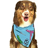 Rghkjlp Dogs Bandana Collars Uzi Pets Triangle Neckerchief Puppy Bibs Scarfs Cats Scarfs Towel