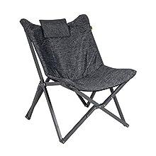 Bo-Camp - Urban Outdoor Edmonton Relaxsessel, Aluminium, anthrazit, Einheitsgröße
