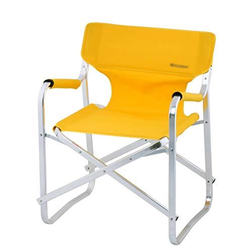 DCCYZ-YJ Chaise de pêche en Plein air en Aluminium de Chaise de Directeur de Cadre en Aluminium imperméable et Respirante de Tissu de Toile