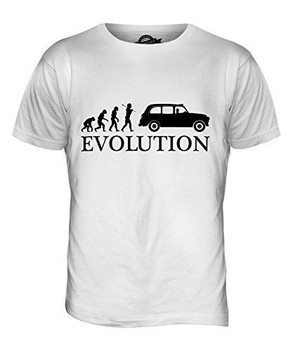 CandyMix London Taxi Evoluzione Umana T-Shirt da Uomo Maglietta Bianco