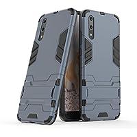 Huawei P20 Funda, YHcase [Armor Series] Combinación A Prueba de Choques Heavy Duty Escudo Cáscara Dura PC + Suave TPU Silicona Rubber Case Cover con soporte para Huawei P20 -Black