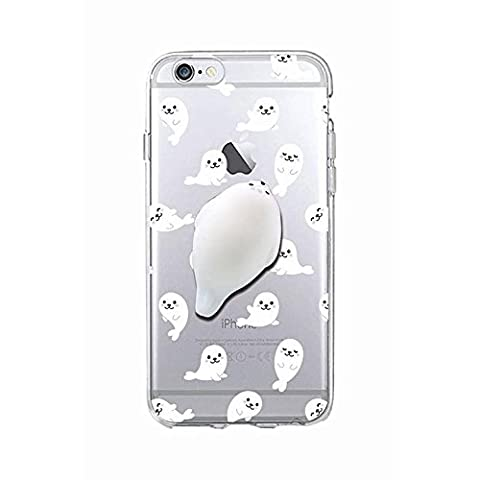 Squishy 3D Animal Cat Chat iPhone 5s Coque, Cute Stress Silicone Fun Case for iPhone 5s / iPhone 5 (Color-B)