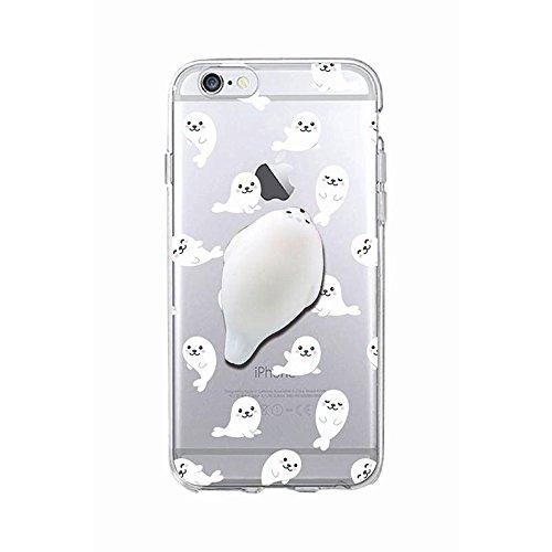 Milch Feuchtigkeitsspendende Duschgel (Squishy 3D Animal Tiere Cat Katze iPhone 6s Case Hülle handyhülle, Cute Stress Silikon [2017] Spaß Schutzhülle Hülle für iPhone 6 / iPhone 6s (Color-B))