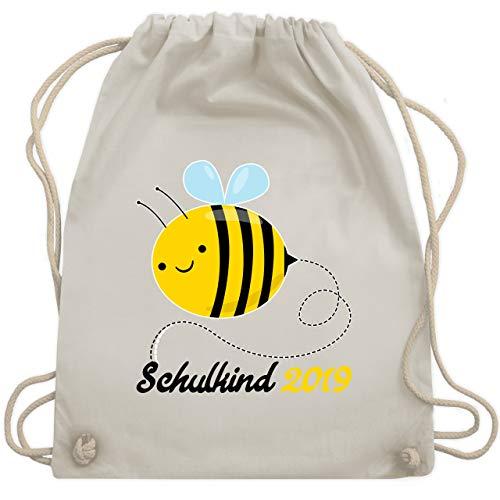 lanfang - Biene Schulkind 2019 - Unisize - Naturweiß - WM110 - Turnbeutel & Gym Bag ()
