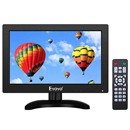 Eyoyo 11.6 Zoll HDMI TV Monitor, Tragbarer TV 1366x768 16:9 LCD Bildschirm unterstützt TV/HDMI/VGA/AV/USB Eingang mit Fernbedienung Wand-Halterung Für DVD PC Himbeer PU Computer (11.6'' 1366x768 TV)