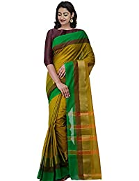 239c73eb3 Unnati Silks Women Pure Handloom Chettinadu Cotton Saree with blouse piece  from the Weavers of Tamilnadu