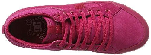 DC Shoes Evan Hi Se, Scarpe da Ginnastica Basse Donna Rosa (Raspberry)