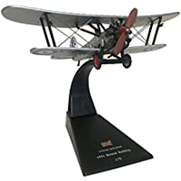 Bristol Bulldog biplane fighter diecast 1:72 model (Amercom SL-7)