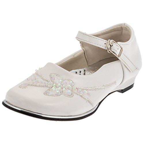 Weisser Mädchen Schuh, 4 Varianten #627 weiss mit Schmetterling