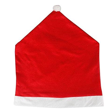 Stuhlrueck Abdeckung - SODIAL(R) 1 x Weihnachtsmann Rot Hut Stuhlrueck Abdeckung Weihnachtsabendessen Dekor Geschenk