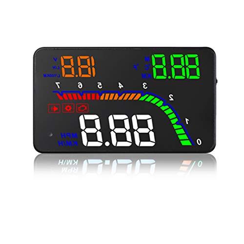 LouiseEvel215 T100 Coche HUD OBD2 Pantalla ascendente Sistema de advertencia de exceso de Velocidad Proyector Parabrisas Auto Voltaje electrónico - Pantallas Autos