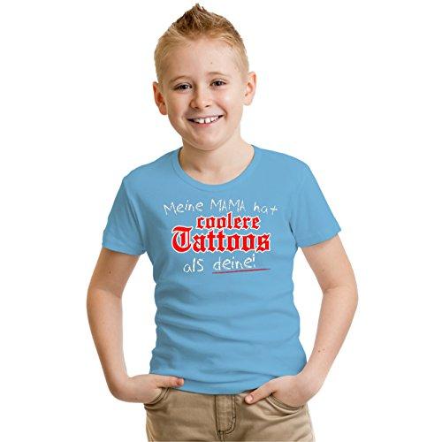 Kinder T-Shirt Meine Mama hat coolere tattoos als deine! Hellblau