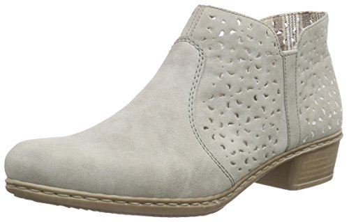 Rieker M0785, Damen Kurzschaft Stiefel, Grau (Grey/40), 39 EU (6 Damen UK)