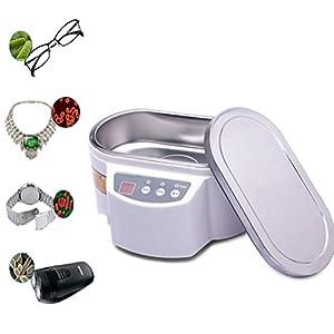 Bvc Ultraschallreiniger, Schmuck Reinigungsmaschine Edelstahl Tank & Digital Timer- Für Schmuck Anhänger Gläser Uhr, 700ML