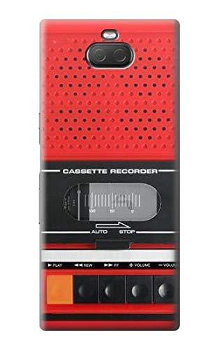 Innovedesire Red Cassette Recorder Graphic Hülle Schutzhülle Taschen für Sony Xperia 10 Plus