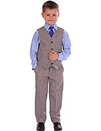 529bb35cbb Amazon.co.uk: Brown - Suits & Blazers / Boys: Clothing