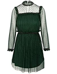 Highly Preppy - VESTIDO TUL PLISADO VERDE - H.PREPPY - 7645 - M,