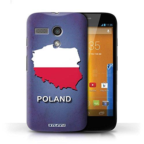 Kobalt® Imprimé Etui / Coque pour Motorola MOTO G (2013) / Italie/Italien conception / Série Drapeau Pays Pologne/Polonais