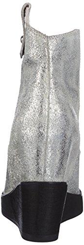P1 Stockholm, Bottes courtes avec doublure intérieure femme Blanc - Weiß (white metallic)