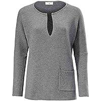 RICK CARDONA Oversized-Pullover grau in Gr. 44/46