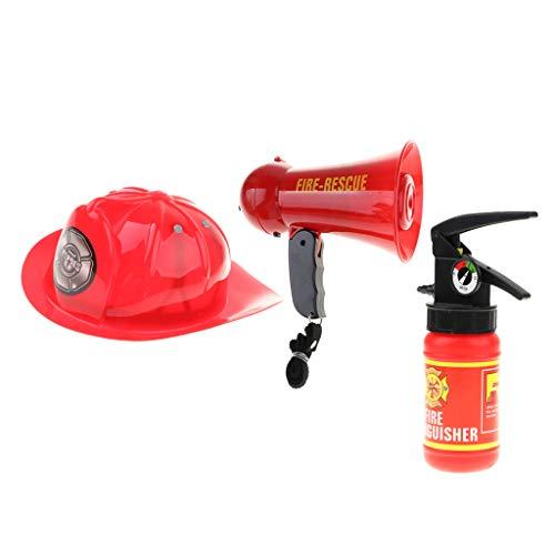 FLAMEER 3X Kinder Feuerwehrmann Cosplay Zubehör Set, aus Plastik