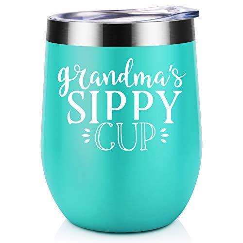 Coolife Trinkbecher aus Edelstahl, mit Deckel und Strohhalm, 340 ml Mint-Grandma's Sippy Cup Cup-form-mint