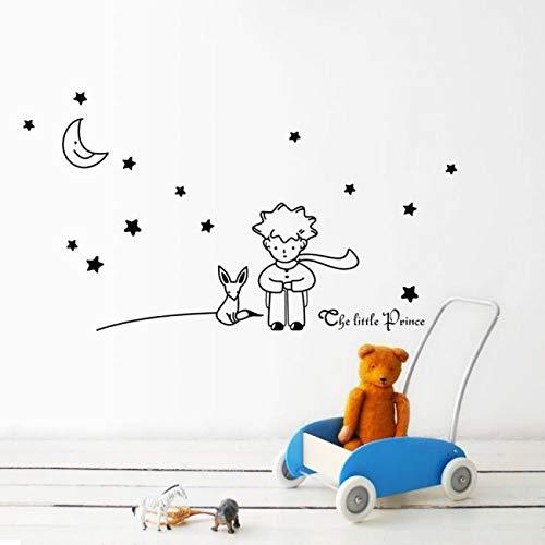 OSYARD Wandaufkleber Wallsticker,The Little Prince Sterne Mond Wandaufkleber Wandtattoos für Kinderzimmer,Baby Sticker Wanddeko Wandsticker Kleinkinder Schlafzimmer Tapetensticker Wandfolie