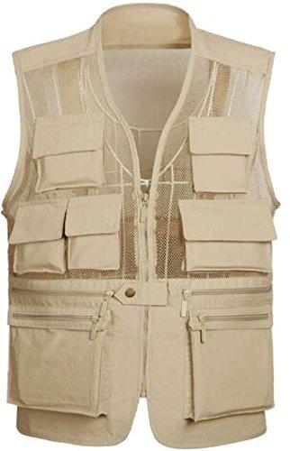 GLF Spring Outdoor Sport Uomini Sezione Sottile Mesh Vest Vest Multi-tasca Gilet Clip Di Cavallo Fotografia In Montagna B