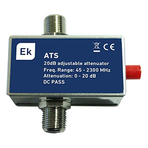 EK Atenuador Variable Conector F Frecuencia 45-2300MHz Margen atenuacion 3-16dB Paso Corriente DC