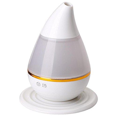 YL Agua Colorida Mini Usb Aroma Humidificador Purificador de Aire Del Coche Del Atomizador,Blanco
