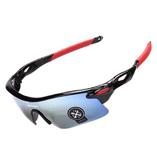 sunshineBoby Outdoor Radsportbrille Fahrrad Sonnenbrille Polarisierte Sonnenbrille-Damen und Herren Mode Driving Sonnenbrille Polarisierte Brille Sport Eyewear Angeln Golf mit Rahmen (Mehrfarbig F)