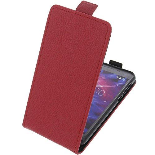 foto-kontor Tasche für MEDION Life E5008 Smartphone Flipstyle Schutz Hülle rot