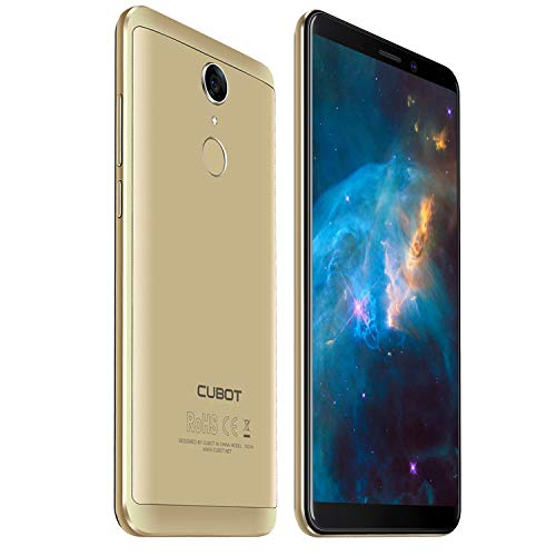 Cubot NOVA 4G-LTE Dual SIM Smartphone ohne Vertrag 5.5 Zoll (18:9) IPS HD Touch Display Android 8,1 3GB RAM+16GB ROM 13MP+8MP Kamera 0.1s Fingerprint Sensor Handy Gold