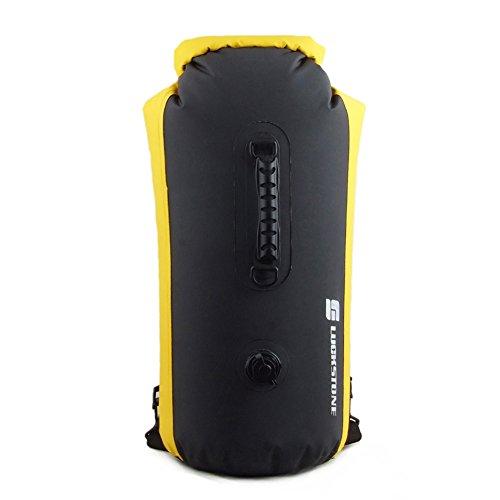 60L Wasserdichte Tasche, Driftender aufblasbarer wasserdichter Taschen-Rucksack im Freien geeignet zum Kajak-, Boot-, Kanufahren/Angeln/Rafting/Schwimmen/Camping/Snowboarden (A)