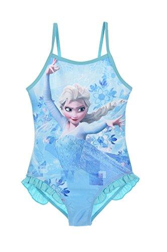 (Disney Frozen Anna Elsa Mädchen Bademode (Blau , 8 Jahre))