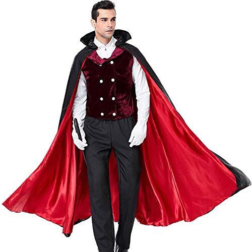 QWE Halloween Kostüm Vampir Kostüm Cosplay Bühnenkleidung Herren Performance - Komplette Vampir Kostüm
