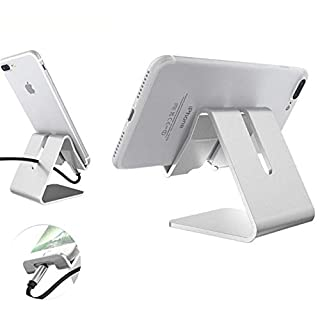 Abaobao Phone Holder,Phone Dock, Universal Phone Stand, Aluminum Desktop Cradle for iPhone X 8 7 6 6s plus 5 5s 4 4s, Samsung S3 S4 S5 S6 S7 S8, Nintendo Switch, HUAWEI other Smart Phones (Black)