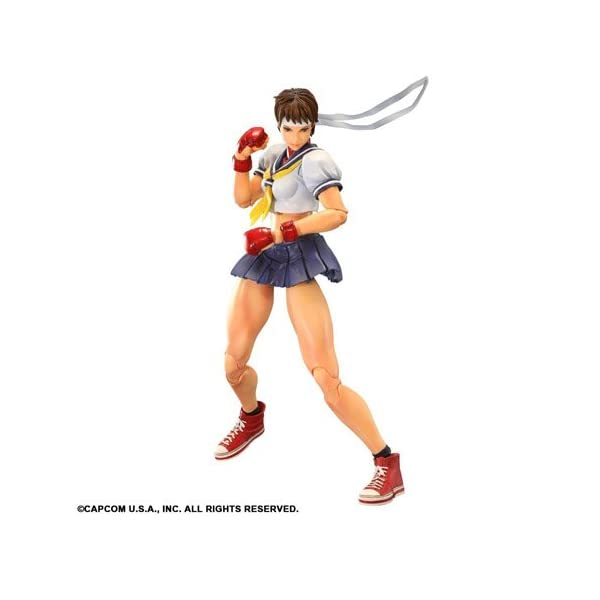 Square Enix Figura Street Fighter Play Arts Sakura 25 cm 1