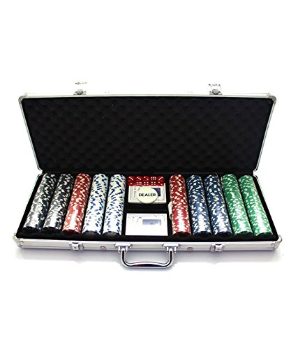 Wish Key 500 Pieces Poker Set Casino Chips Card Games