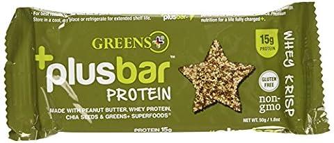 Greens Plus - Verts Plus High Protéine Barres Whey Krisp - 12 Barres