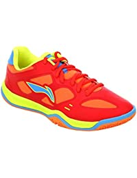 Li-Ning AYTG041-1 Red Professional Badminton Shoes For Men (Red)