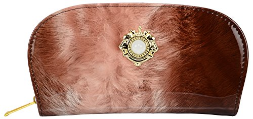Awesome-Fashions-Womens-girls-wallet-clutchfeather-brown
