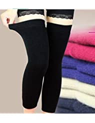 Unisexe Genouillère tampons de laine cachemire hiver chaud Genouillères Thermiques à manches pour femmes hommes