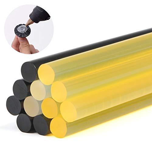 Preisvergleich Produktbild QLOUNI 12 Stück Heißklebepatronen Heissklebestifte zum Basteln Klebestifte für Heißklebepistole Hot Melt klebestifte 3 Farben Heißklebesticks 11x270mm