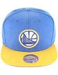 Casquette Golden State Warriors bleu roi-jaune MITCHELL & NESS