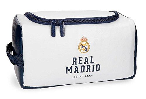 Real Madrid 5384462 RM GOL Neceser de Viaje, 26 cm, 6.24 litros, Blanco