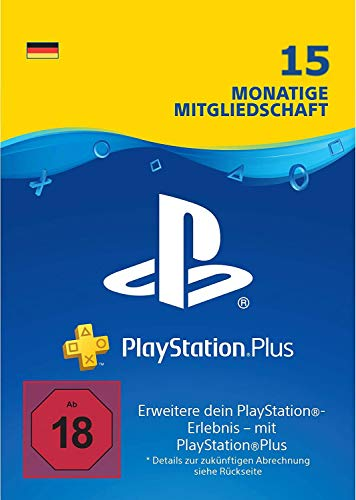 Prime Day Angebot: 15 Monate PlayStation Plus Mitgliedschaft | PS4 Download Code - deutsches Konto (Playstation 3 Monat)