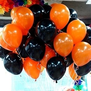 NEO 10'' Halloween Black and Orange Helium Balloons for Party Decoration 100pcs by Neo LOONS