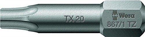 Embout T20 L.25mm 867/1TZ dur tenace WERA